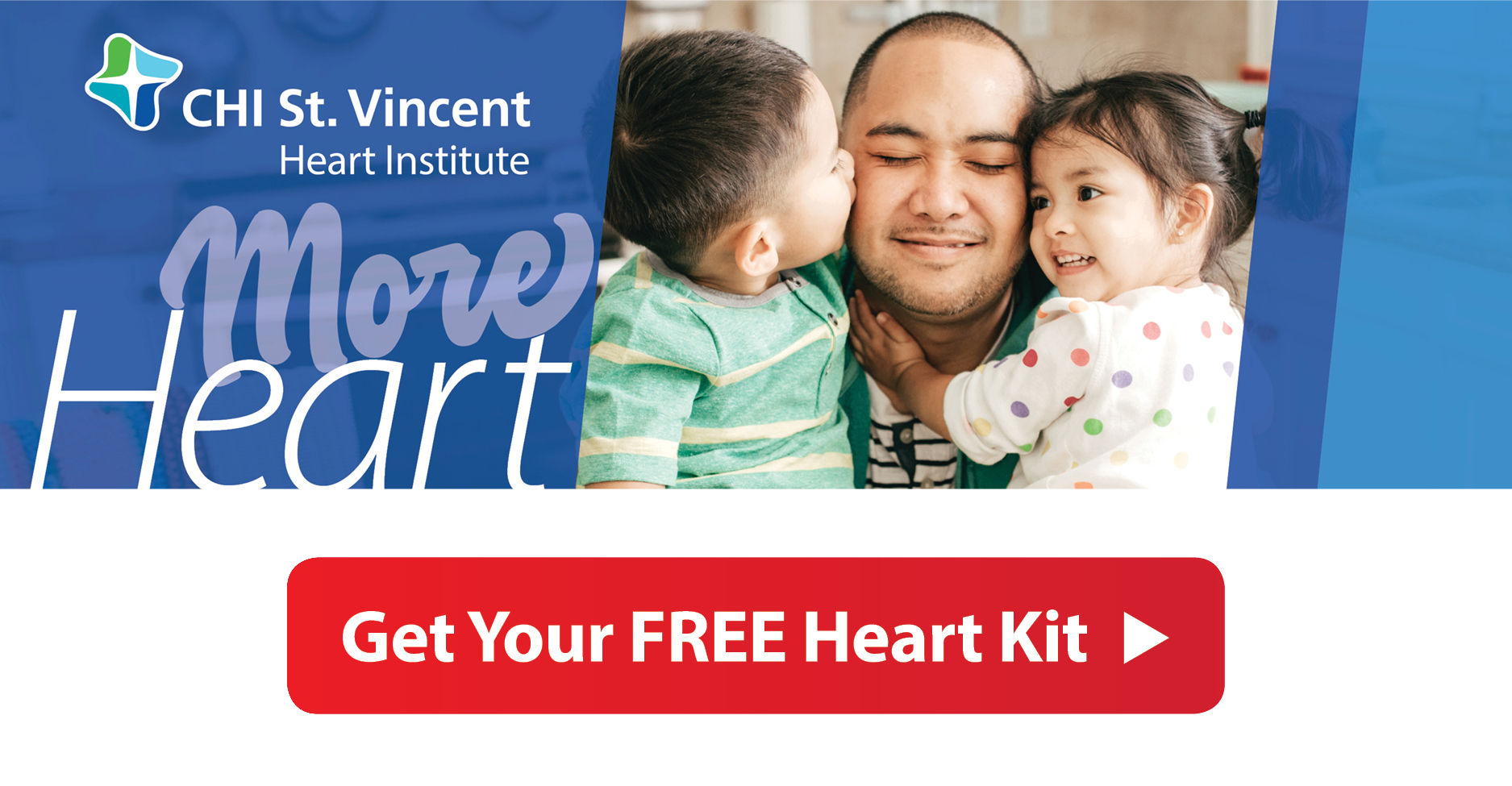 Heart Care featuring dad and kids